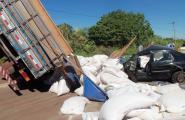 Imagens do acidente de Tucunduva